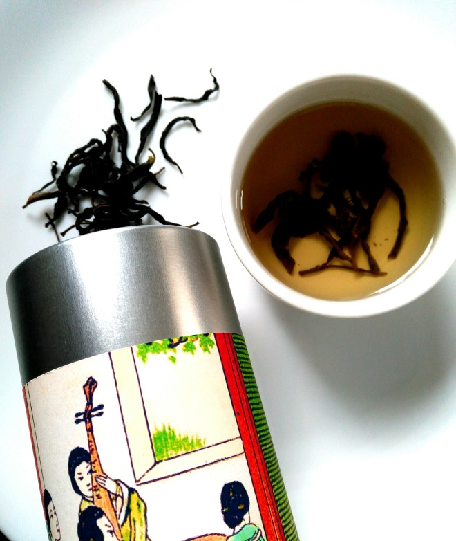 A cup of infused dan cong oolong tea from master Lin Gui Hua Xiang